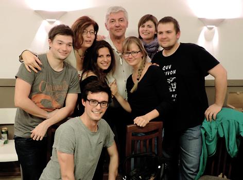 参加国际世界语大会的部分青年人