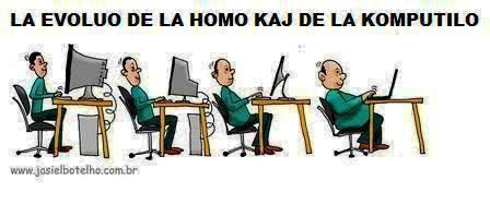 evoluo de homo kaj komputilo